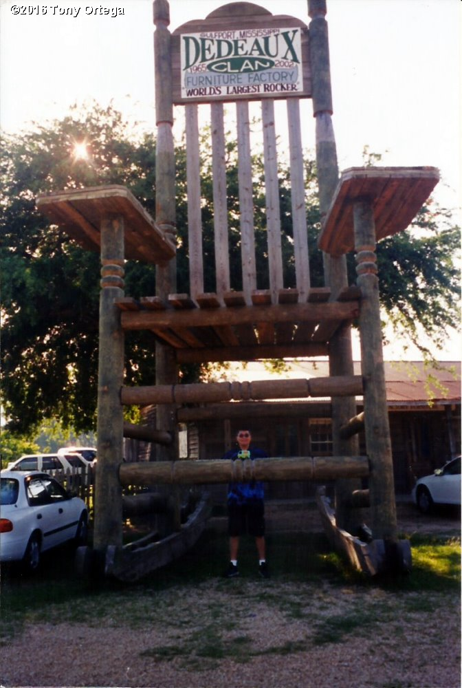 The Chair Is Located Just Outside The Entrance To The Dedeaux Clan Furniture  Factory At 11451 Canal Rd, Gulfport, MS 39503.